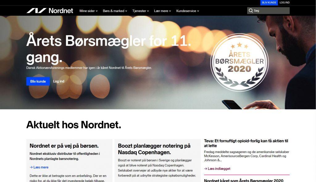 Nordnet-forside