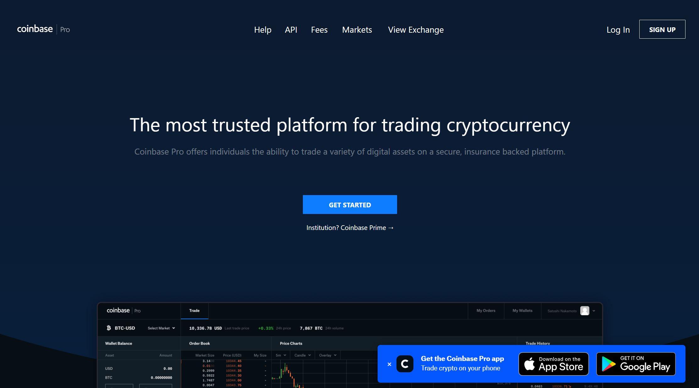 Coinbase Pro, Coinbase GDAX