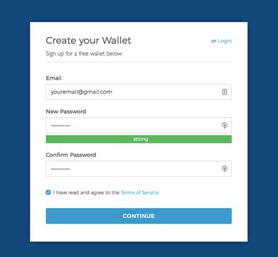Blockchain.com Create Account